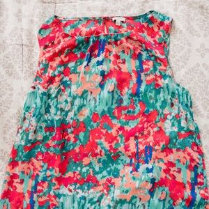 Talbots floral pattern shell
